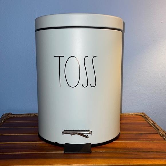 Rae Dunn TOSS trash bin